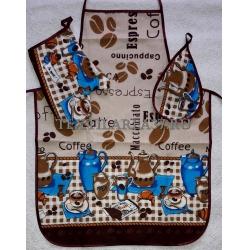 Набор вафельный «Фартук, варежка, прихватка» вид 8