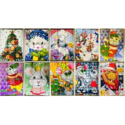 Набор вафельных полотенец подарочный ассорти «Год 2020 »