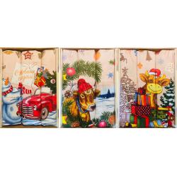 Набор вафельных полотенец подарочный «Год 2021 весёлый бычок 1»