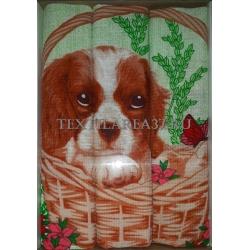 Набор вафельных полотенец подарочный «Год Собаки N19»