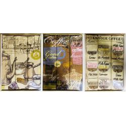 Набор полотенец рогожка подарочный «Кофейня»