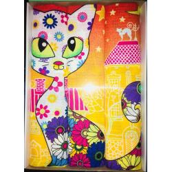 Набор вафельных полотенец подарочный «Кошки N15»