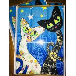 Набор вафельных полотенец подарочный «Кошки N17»