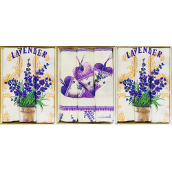 Набор  полотенец рогожка  подарочный «Лаванда-ассорти»