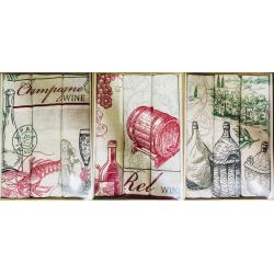 Набор  полотенец рогожка  подарочный «Сомелье-ассорти»