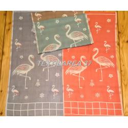 """Полотенце """" Фламинго"""" 34*76 (лен+хлопок) вид 2"""