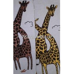 """Полотенце """"Жирафы"""" 70*140 (лен+хлопок)"""