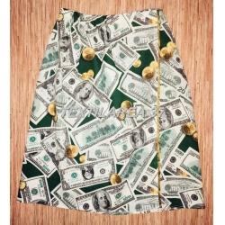 """Полотенце на липучке вафельное """" Доллары"""""""