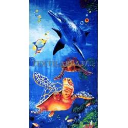 """Полотенце пляжное """"Дельфины"""" вид 11"""