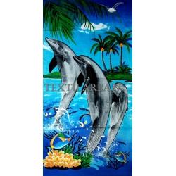 """Полотенце пляжное """"Дельфины"""" вид 13"""