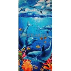 """Полотенце пляжное """"Дельфины"""" вид 17"""