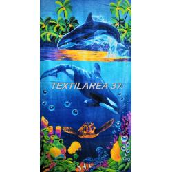 """Полотенце пляжное """"Дельфины"""" вид 7"""