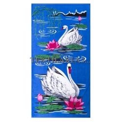 """Полотенце пляжное """"Лебеди"""" вид 1"""