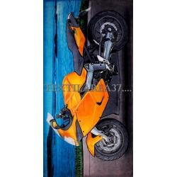 """Полотенце пляжное """"Мотоцикл"""" вид 2"""