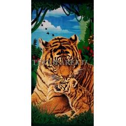 """Полотенце пляжное """"Тигр"""" вид 5"""