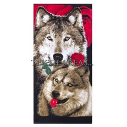 "Полотенце пляжное ""Волк"" вид 3"