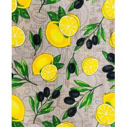"""#Полотенце вафельное банное  """" лимоны"""""""