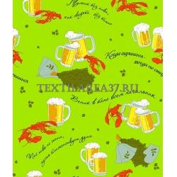 Полотенце вафельное банное «Раки-пиво» вид 2