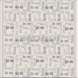 Скатерть рогожка «Бантики» 150 х 220 см