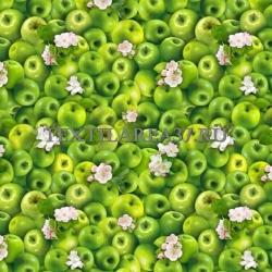 """Скатерть рогожка """"Яблоки"""" 150 х 150 см"""