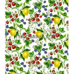 """Скатерть рогожка """"Лимоны"""" 150 х 220 см"""