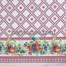 """Скатерть рогожка """"Сладкая ягода"""" 150 х 220 см"""