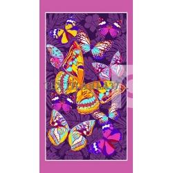"""Вафельные полотенца банные  """"Бабочки"""" вид 3"""