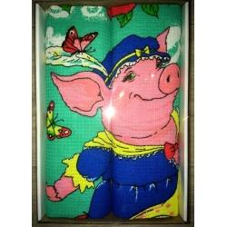 Вафельные полотенца в подарочной упаковке «Год Свиньи N3»