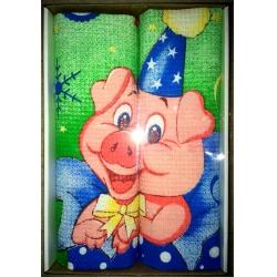 Вафельные полотенца в подарочной упаковке «Год Свиньи N4»