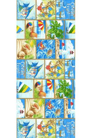 """Вафельные полотенца банные  """" По морям"""" вид 1"""