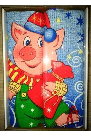 Вафельные полотенца в подарочной упаковке «Год Свиньи N2»