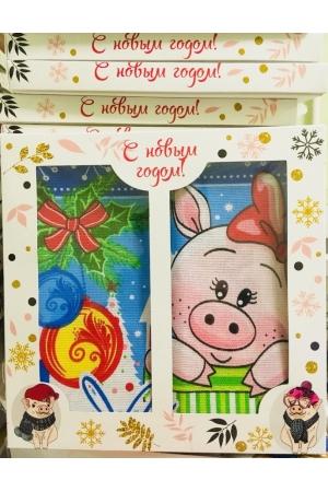 Вафельные салфетки  в подарочной упаковке «Год Свиньи N7»Рисунки разные